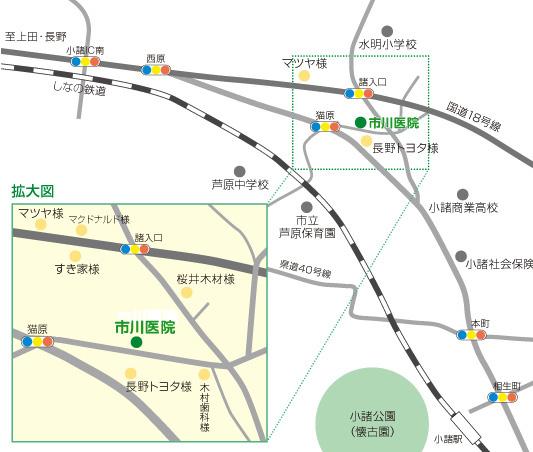 市川医院の地図