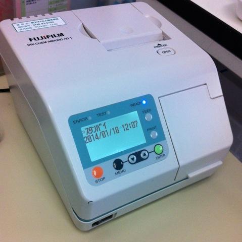 インフルエンザ分析装置の写真